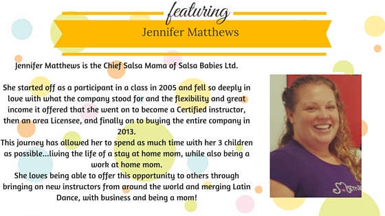 salsa babies instructor bio jennifer matthews